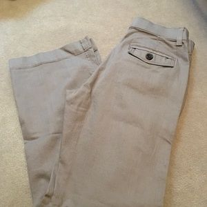 Lee no gap waist size 6M tan dress pants